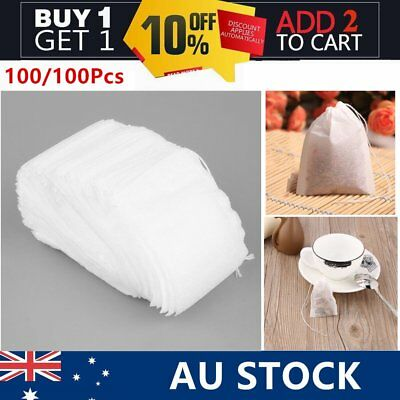 100/1000pcs Empty Teabags String Heat Seal Filter Paper Herb Loose Tea Bags S5