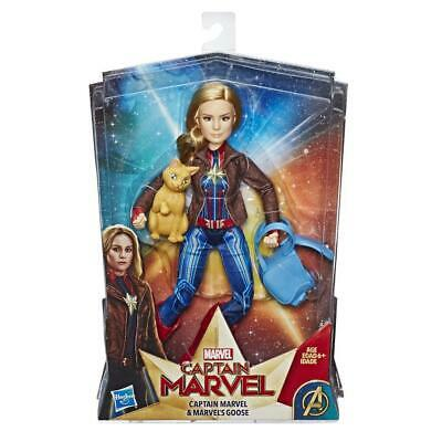Marvel Captain Marvel Super Hero Doll & Marvel's Goose the Cat
