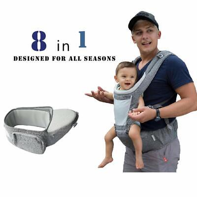 DaDa Hip Seat Baby Carrier, Airflow 360 Ergonomic Baby Carrier with Hip Seat