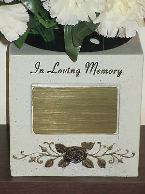 Memorial Flower Vase - Planter - BLANK TO ENGRAVE BY CHOICE - Remembrance -Grave