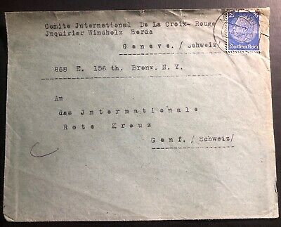 1940 Myslowice GG Germany Cover To The Red Cross Agency Geneva Switzerland