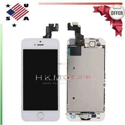 For iPhone SE LCD Screen Digitizer Display Touch With Home Button Camera White