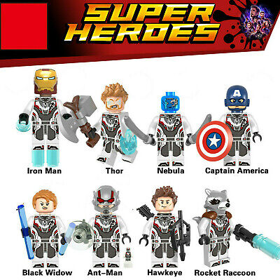1-8Set Marvel Super Heroes Lego Minifigures Avengers Endgame Quantum Suit Figure