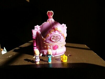 Complete POLLY POCKET Crown Palace 1996 Vintage Bluebird W/ HTF Crown Case