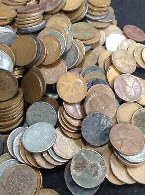 ROLLS 500 pieces TEN 10 of UNSEARCHED WHEAT CENTS and INDIAN PENNIES