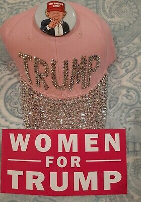 Trump 2020 No Bullshit Mossy Oak Hat Make America Shithole Vote Dem Pin &Sticker