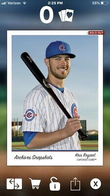 2016 Topps Bunt Digital Archives Snapshots Kris Bryant Cubs