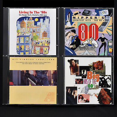4 CD Lot Greatest of the 80's Living Big Nippers Eighties 47 Hits Singles Songs