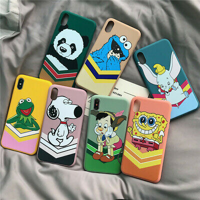 Disney Cartoon Silicone Soft Phone Case Cover For iPhoneX 6s 7 8Plus XR Xs Max