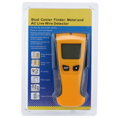 3-In-1 Metal Detector Stud Finder AC Voltage Live Wire Detect Wall Scanner TH210
