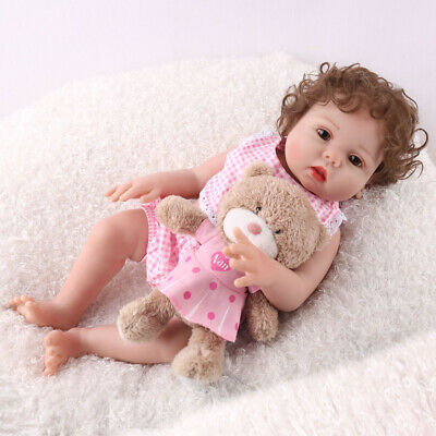 "16"" Full Body Reborn Baby Girl Dolls Silicone Vinyl Lifelike Xmas Gifts Doll US"