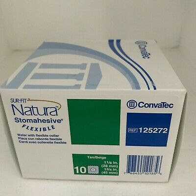 Convatec 125272 Sur-Fit Natura Stomahesive Wafer W/Flexible Collar