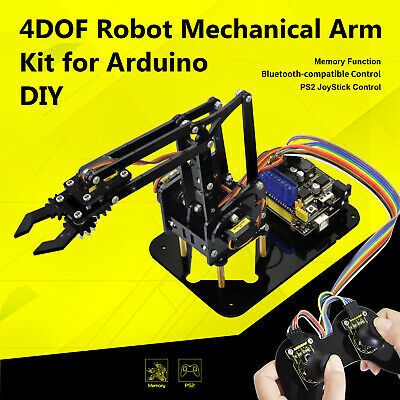 Keyestudio 12FN20 9G Servo 4DOF Robot Mechanical Arm Claw Kit For Arduino UNO R3