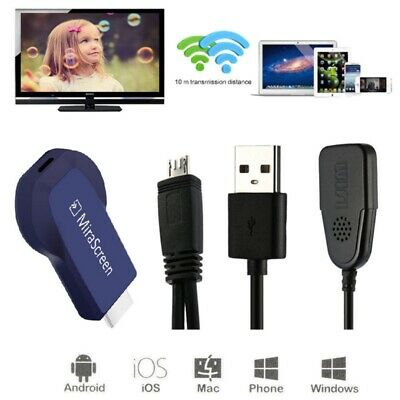 Wireless Display Dongle Receiver Screen Mirror 1080P WiFi Media Streamer S7Z4R