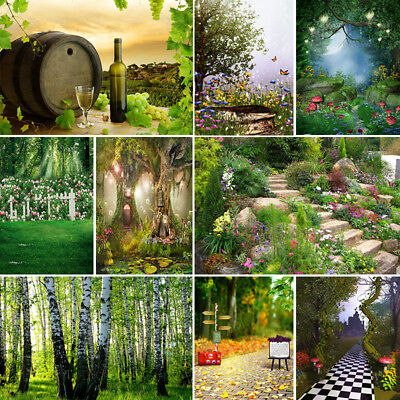 Photo Background Cartoon Fairy Tale Forest Birthday Party Backdrops Photography