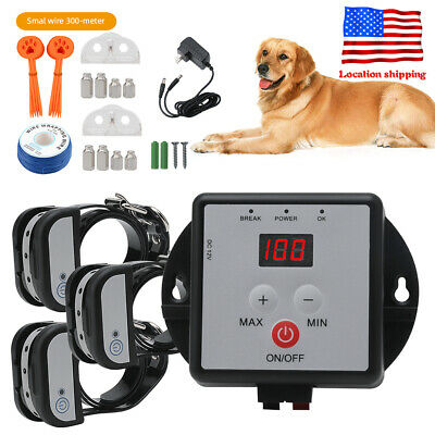 5000M² Electric In-Ground Fence Containment, Pet Dog Training Transmitter Collar