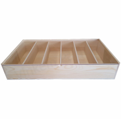 Premium Timber 6x Bottle Wine Gift Box Perspex Lid