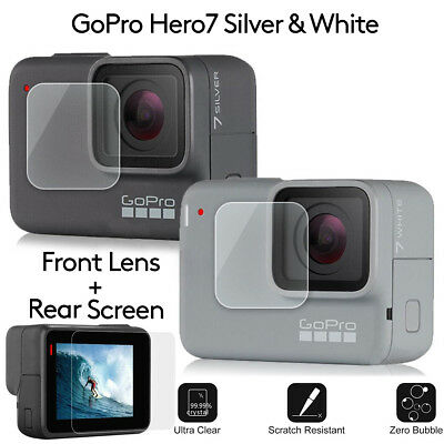 For GoPro HERO 7 6 5 Black Protective Lens Cover Case Mount Screen Hard Film 2pc