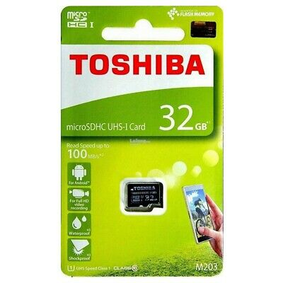 Micro SD Card 32GB Toshiba M203 UHS-I Class 10 Mobile Tablet Memory Card 100Mbs