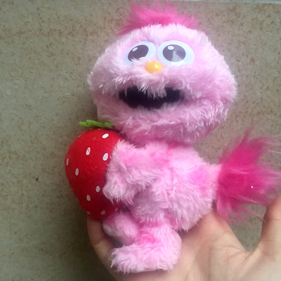 Universal Studios Sesame Street Pink moppy with Strawberry Plush toy