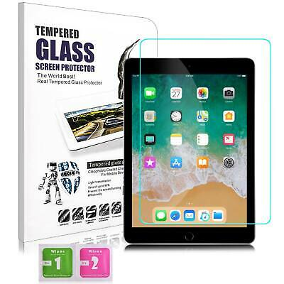 """For New iPad 6th Generation 9.7"""" 2018 HD Clear Tempered Glass Screen Protector"""