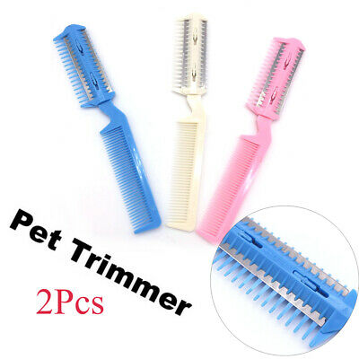Hairdressing Tool Cat Brush Grooming Comb Pet Hair Trimming Dog Scissor