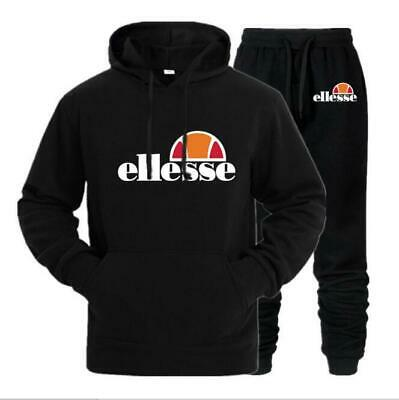 2 pcs Ellesse Femmes Survêtement Hoodies Sweatshirt Pantalon Ensembles Costume A
