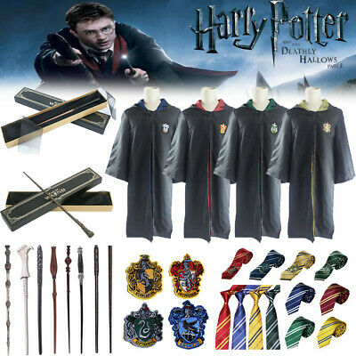 Harry Potter Gryffindor Slytherin Robe Cloak Scarf Wand Cosplay Toy Costume Suit