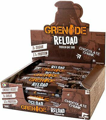 Grenade Reload Protein Flapjacks 12 x 70 g Bars - Chocolate Browning FAST