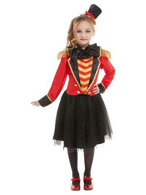 Girls Deluxe Ringmaster Costume Greatest Showman Circus Fancy Dress