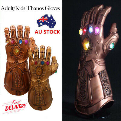 Avengers Infinity War Infinity Thanos Gauntlet LED Light Gloves Cosplay Prop AU
