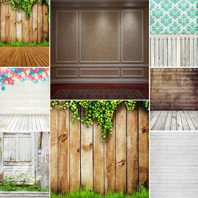 Vinyl Photography Background Nostalgic Wood Floor Wall Scene Studio Backdrops