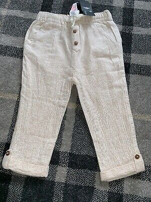 boys marks and spencer Autograph Summer Trousers New With Tags 12-18 Months
