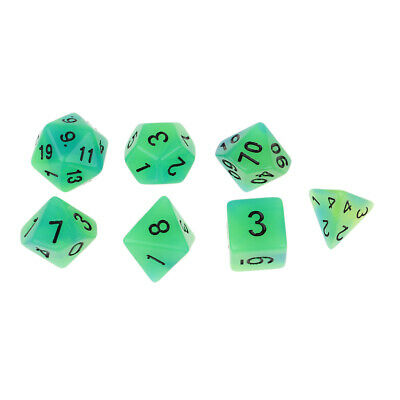 7x Luminous Dice Set for DND RPG Playing Game Party Favor Novelty Gift #1
