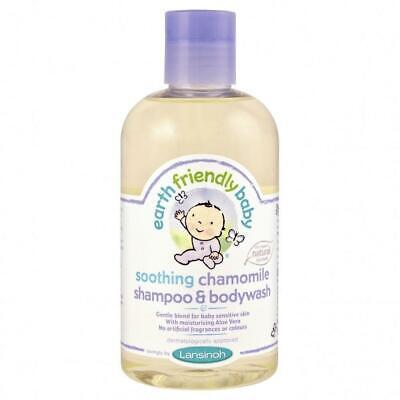 Earth Friendly Baby Soothing Chamomile Shampoo & Bodywash 250ml (4 Pack)