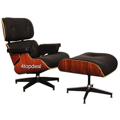 Lounge chair ottoman Rosewood 100%  leather ,lounge & ottoman 100% cuir Italien