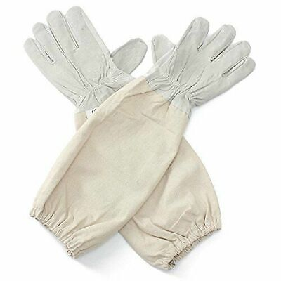 XL Goat Leather Beekeeping Gloves with Vented Sleeves, 1 Pair (X Large)