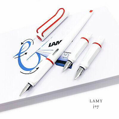 Lamy Joy Calligraphy Fountain Pen Set White/Red *1.1mm + 1.5mm + 1.9mm nibs*