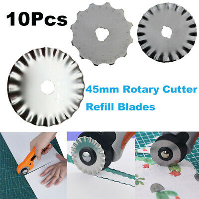 10Pcs/Set 45mm Rotary Cutter Refill Blades Cutter Fabric Leather Quilting Sewing