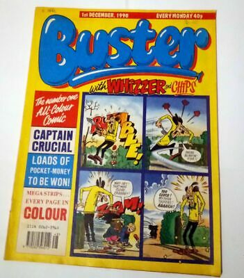 Buster with Whizzer and Chips 1st December 1990 Collectable Childrens UK Comic *
