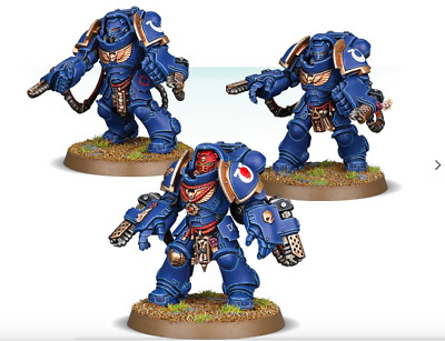 3X PRIMARIS SPACE MARINES AGRESSORS ULTRAMARINES WARHAMMER 40k nuevo