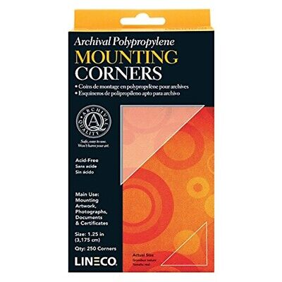Lineco Polypropylene Photo Mounting Corners 256/pkg-clear 1.25""