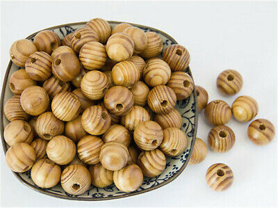 6-18mm Pine Natural Round Wood Spacer wooden Beads Fit for bracelet necklace lot