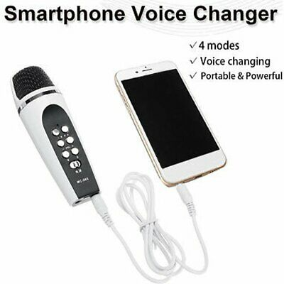4 Mode Voice Changer Microphone For Iphone Apple Smartphone Cellphone PC V8