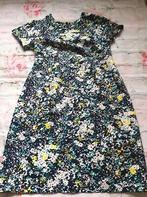 b0757211b2bf8 A Pea In The Pod Maternity Dress Collective Concepts Navy Blue Floral Small  Euc