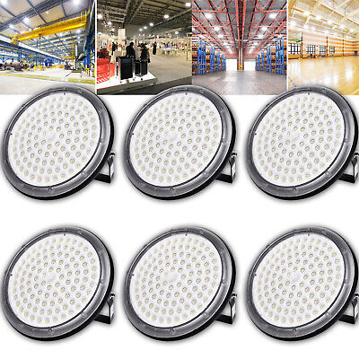 6X 100W UFO DEL High Bay Light Industriel Lampe Entrepôt Commercial éclairage
