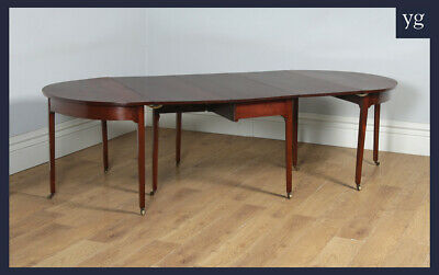 Antique English Georgian Mahogany D End Extending 8 Seat Dining Table (c.1800)