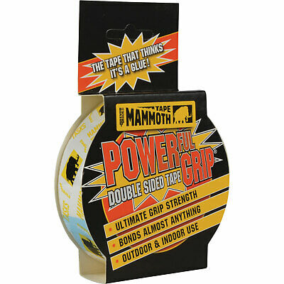 Everbuild Mammoth Powergrip Indoor & Outdoor Double Sided Tape Clear 12mm 2.5m