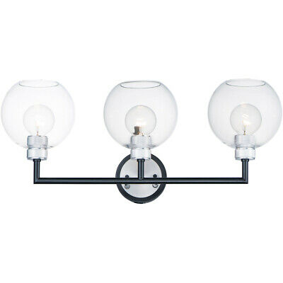 Maxim Lighting 21613CLBKAL Vessel Wall Sconce Black and Brushed Aluminum
