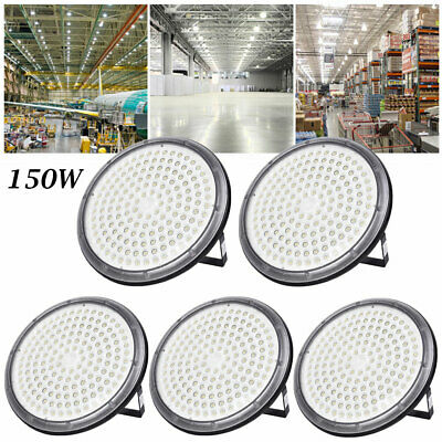 5X 150W UFO DEL High Bay Light Industriel Lampe Entrepôt Commercial éclairage
